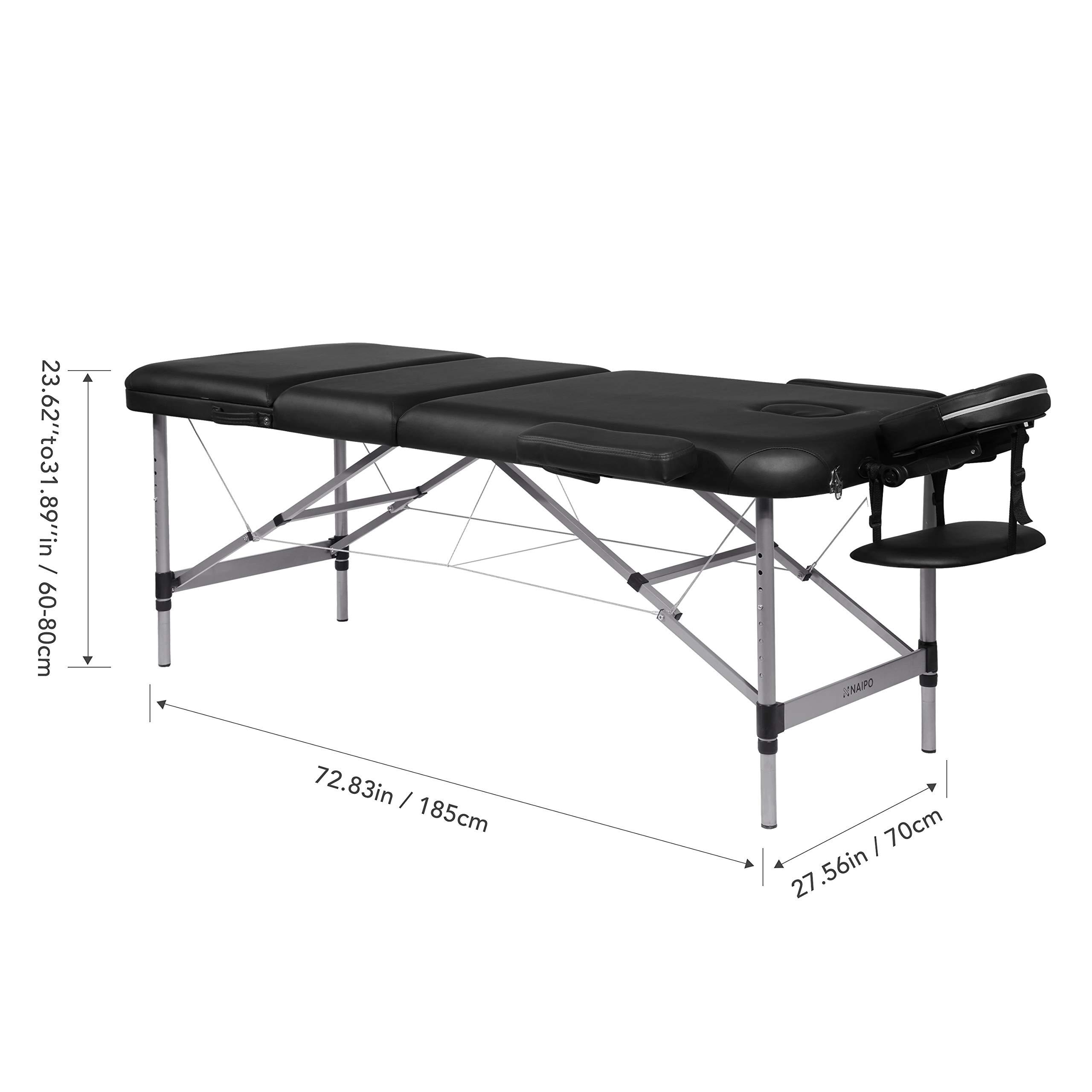Naipo Table De Massage Cosmétique Lit De Kiné Pliante