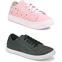 Longwalk Women Latest Collection Sneakers Shoes | Casual Style | Trending Shoes for Girl's| Combo (Pack of 2) | Light…