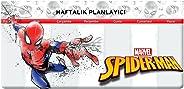 Keskin Color 830130-06 Haftalık Planner/Bloknot, Spiderman, 12x26 cm