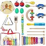YISSVIC Juguetes de Instrumentos Musicales para Niños 20 Pzas, Juguetes Educativos para la Ilustración de la Música de los Ni