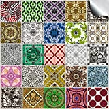 "TP56 - 4"" Pack of 24 - Printed in 2d Kitchen / Bathroom Tile STICKERS For 100mm (4 inch) Square Tiles – Directly From: TILE STYLE DECALS, No Middleman (4""- Pack of 24)"