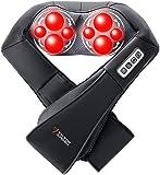 Viktor Jurgen Shiatsu Massagegeräte,Nackenmassagegerät,mit 3D Rotierende Shiatsu Kneten Massagegeräte+Infrarot-Heizung+Verstellbare Intensität,für massage Nacken,Schulter,Rücken,Bein+3 Jahre Garantie
