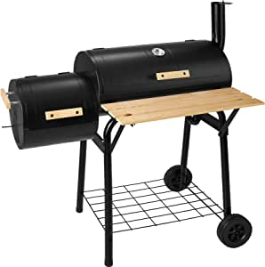 TecTake Barbecue BBQ Fumeur Smoker Américain XXL BBQ GRILL CHARBON DE BOIS FUMOIR
