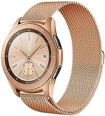 BZLine® Armband für Samsung Galaxy Watch 42 mm/46 mm, Luxus Milanese Samsung Galaxy Watch Ersatzarmband Edelstahl Samsung Galaxy Uhr mit Magnet-Verschluss Armband für Samsung Galaxy Uhr 42 mm 46 mm