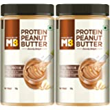 MuscleBlaze High Protein Peanut Butter, Crunchy, 37% Protein, 750g Each (Pack of 2)
