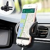 iAmotus Support Téléphone Voiture Ventilation Rotation 360° Ajustable Universel Auto à Grille d'aération pour iPhone X S Max 8 7 6S 6 Plus 5S Samsung Galaxy S8 S7 S6 Huawei P20 Smartphones et GPS MP3