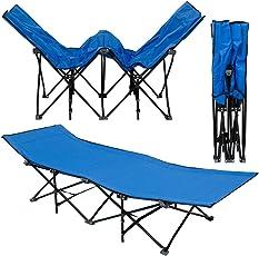 AMANKA Faltlbett Faltliege Feldbett Camping-Metall-Klappiege ca. 190x70cm 10-Bein Liege Klappbett Stahlgestell Diverse Farben