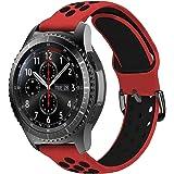 MroTech 22mm Correa Silicona Compatible para Samsung Gear S3 Frontier/Classic/Galaxy Watch 46mm Pulsera de Repuesto para GTR