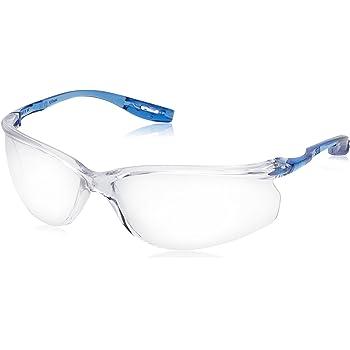 3M Tora (CCS) - Lunettes de sécurité incolores en polycarbonate sans  monture avec branches bleues - Anti-buée, anti-rayures et anti-UV - 1 pièce f51e0218943d