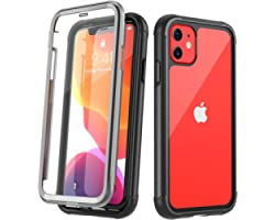 Temdan Compatible with iPhone 11 Case, Full Body with Built-in Screen Protector Heavy Duty Protection Shockproof Slim Fit Cov
