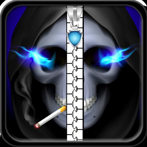 Schädel Zipper Lock Screen -