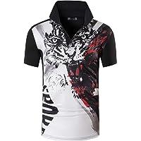 jeansian Uomo Allenarsi Sportivo Poliestere Asciugatura Rapida Camicie Workout Polo Shirt T-Shirts LSL195