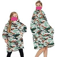 Wearable Blanket Sweatshirt Hoodie for Women and Men Girl Boy Oversized Double Fleece Plush Cartoon Hooded Top with Warm…