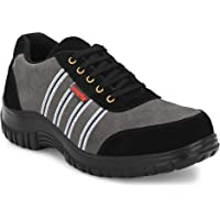 Kavacha Suede Leather Steel Toe Safety Shoe, S75 Size : 6
