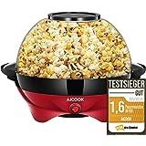 Aicook Machine à Popcorn, Électrique Machine à Pop Corn avec Plateau de Cuisson Détachable, Revêtement Antiadhésif, Bol de 5l
