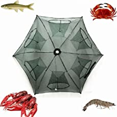 Phoneix Fishing Bait Net Trap Cast Dip Cage Crab Fish Prawn Shrimp Crayfish Lobster Foldable