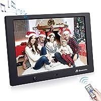 Powerextra 10 Zoll Digitaler bilderrahmen mit bewegungssensor 1280x800 hochauflösendes 16: 9 HD IPS Display für Foto…