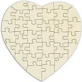 Kopierladen Karnath GmbH Puzzle di Legno Cuore Personalizzabile - 34 Pezzi, ca. 20 x 20 cm - Puzzle Vuoto di Legno Compensato