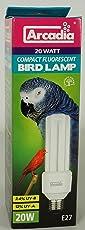 Arcadia FBC20X Bird Lamp, Compact 20W, UV-Lampe für Exoten, E27