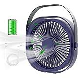 Ventilateur USB, FoacMbem Ventilateur de Table Mini Ventilateur, 3 Vitesse Ventilateur Silencieux, Portable Rechargeable Vent