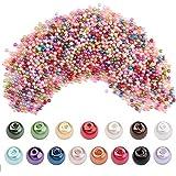 FOGAWA 2000Pcs Kit Cuentas y Abalorios Colores para Hacer Pulseras Manualidades Abalorios Cristal Perlas de Vidrio 4mm Abalor