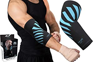 Physix Gear Elbow Brace For Tendonitis - Best Compression Arm Sleeve, Tennis Elbow Brace & Elbow Compression Sleeve for...