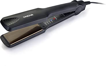 Nova NHS 860 Temperature Control Professional Hair Straightener (Black)