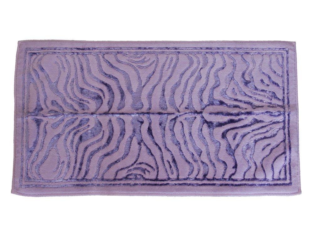 TAPPETO ARREDO BAGNO TIGER ALTA QUALITA' COTONE MULTIUSO TOP LEVEL (CM 60 x 110, LILLA)