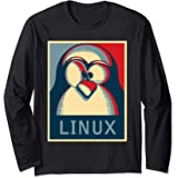 Original Linux Gift Vintage Geek UNIX funny Shirt Manche Longue