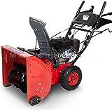 Schneefräse Schneeräumer Schneepflug Premium extra breit 60cm - 6,5 PS Benzinmotor E-Start