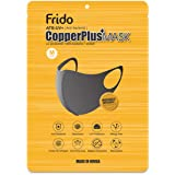Frido Ultra Comfortable Copper Treated Washable and Reusable Face Mask, Super Breathable and Stretchable Fabric for Ultimate