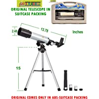 Toy-Station Land & Sky Telescope - Optical Glass & Metal Tube Refractor Telescope (90X Power) with Free Tripod & 2 EYEPIECES