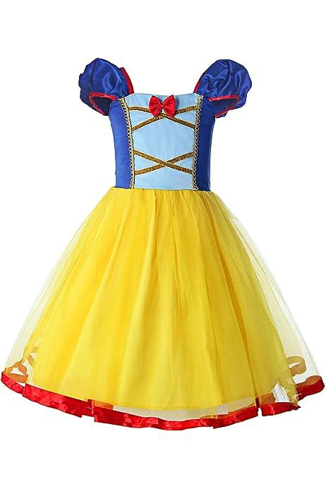IWEMEK Blancanieves Princesa Disfraz de Halloween Bebé Niñas ...