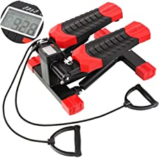 MVPower Swing Stepper, Twister, Ministepper Drehstepper Profi-Stepper mit Zugbändern Trainingsbändern