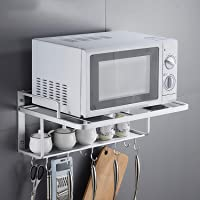 Ejoyous Support de Four à Micro-ondes Double Couche Suspendu, 3 en 1 Support Mural pour Four à Micro-ondes avec 10…