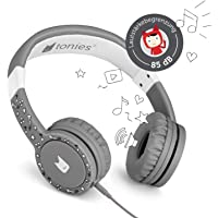 Tonie-Lauscher anthrazit grau: Kinder Kopfhörer passend zur Toniebox - Lautstärke reguliert, Abnehmbares Kabel…