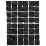 48-Delige Vierkante Zwarte Antislip Zelfklevende Rubberen Voetjes Beschermers Meubels Voor Kasten Kleine Apparaten Elektronic