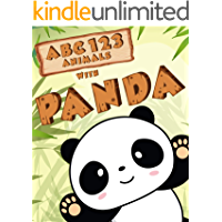 My First Animals ABC and 123 with Cute Panda in Bamboo Forest picture book: Learning to Count Numbers and Alphabet for…