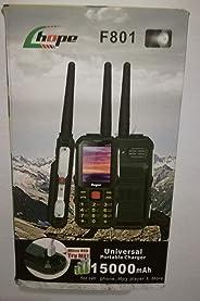 Hope F801 Mobile,Power Bank 15 Mah,flashlight,Green