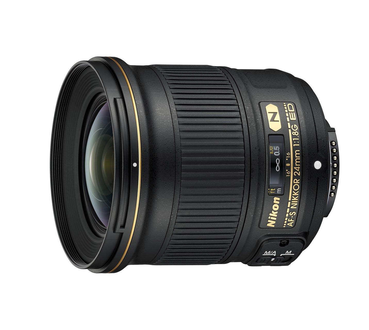 Nikon Obiettivo Nikkor AF-S 24 mm F/1.8G ED, Nero [Nital Card: 4 Anni di Garanzia]