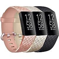 Vancle 3 Pack Kompatibel für Fitbit Charge 3 Armband/Fitbit Charge 4 Armband, Klassisch Sport Verstellbares…