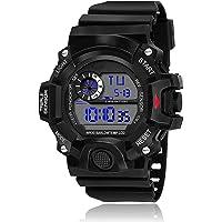 SWADESI STUFF Digital Boy's Watch (Black Dial, Black Colored Strap)