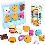 22 gommes mignonnes gommes fantaisie pour les filles,les gommes créatives Macaron pour les cadeaux scolaires