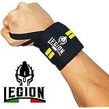 Fasce da Polso LEGION®. Polsiere professionali per Sollevamento Pesi, Fitness, Bodybuilding, Crossfit, Calisthenics…
