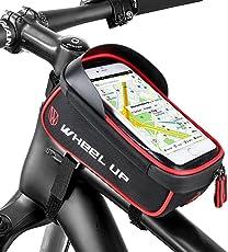Furado Rahmentasche,Wasserdichter,Kopfhörerloch,TPU Touchschirm,Fahrradtasche Rahmentaschen Geeignet für Smartphones Innerhalb von 6 Zoll, für iponeX / iPhone 7s Plus / 6s Plus / Samsung S7