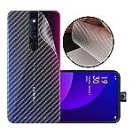 Case Creation Ultra Thin Slim Fit 3M Clear Transparent 3D Carbon Fiber Back Skin Rear Screen Guard Protector Sticker...