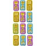 perpetual bliss maggi lunch plates with spoon/fork/return gifts for kids birthday party - (pack of 12)-Multi color