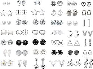 42 Pairs Orecchini Orecchini Set assortiti Vintage per donne Ragazze Semplice Orecchini a cerchio Set gioielli da donna