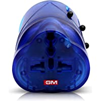 GM Modular 3010-World Travel Adaptor (Suitable for Different Types of Plugs Used Around The World in 150 Countries) Color May Vary