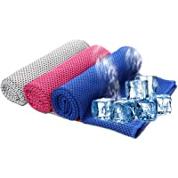 SHISHUO Cooling Towels Ice Towel 80 x 30 cm Gym Microfibre Towel for Men or Women Ice Cold Towels for Yoga Gym Travel…